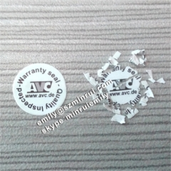 Logo Printed Tamper Evident Warranty Seal Round Stickers