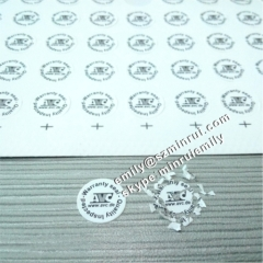 Custom Round Quality Inspected Warranty Calibration Seal Stickers