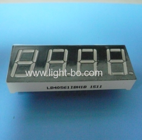 Super green common anode 0.56 4 digit 7 segment led display for digital indicator