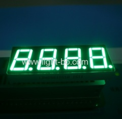 "Pure Green 0.56"" four digit seven segment led display for instrument panel"