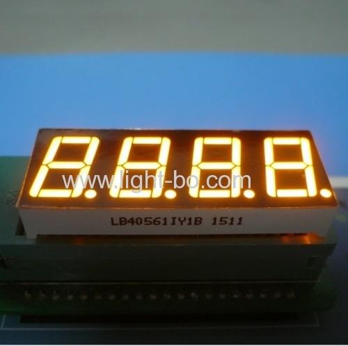 4-значный 0,56 дюйма общий анод Ультра Янтарный 7-сегментный светодиодный дисплей