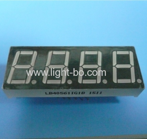 Pure Green 0.56 four digit seven segment led display for instrument panel
