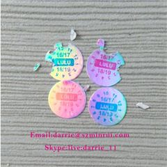 The best manufacturer of self-adhesive destructible label in China custom glossy hologram material warranty screw label