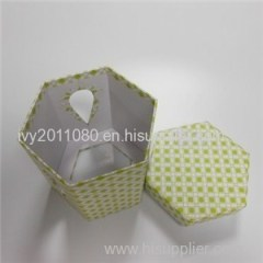 Hexagonal Windowed Paper Box
