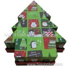 Christmas Tree Shape Paper Box