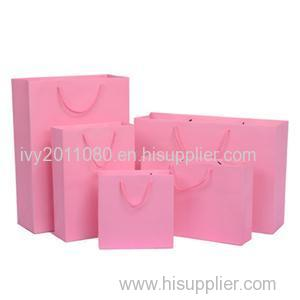 Pink Colored Paper Shopping Bags