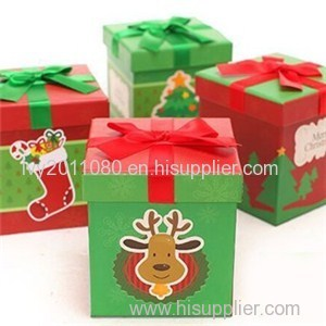 Christmas Paper Candy Box
