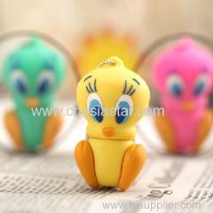 vinyl cartoon duck keychain