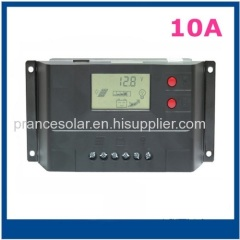 10A 12V intelligent solar power charge controller with USB