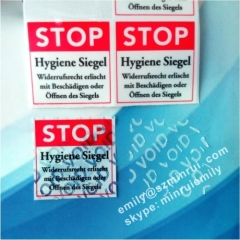 Custom Tamper Proof Security Seal VOID Stickers Stop Warning White Void Stickers