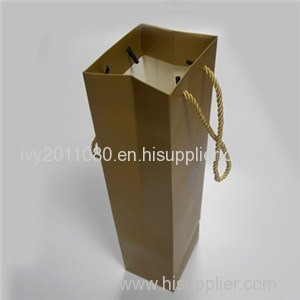 Golden Square Bottom Paper Bags