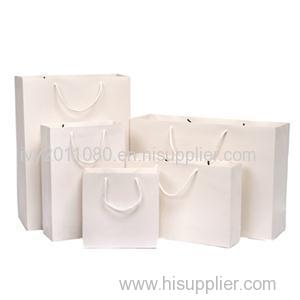 White Coated Paper Shopping Bags