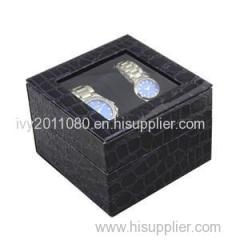 Windowed Leather Watch Box