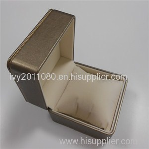 Golden Luxury Leather Watch Box