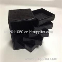 Five Layers Leather Jewelry Box