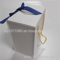 White Paper Box With Rope Handle