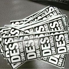 China Top Destructible self adhesive vinyl producer supply customized destructible vinyl Eggshell sticker for graffiti