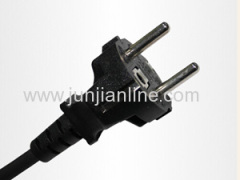 Europe 2 pin plug ac power cord extension cable