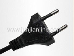 Europe/french standard plug power cord VDE approved power supply cord 2.5A 250V supplier