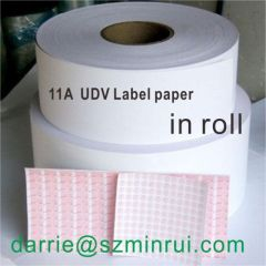 China top manufacturer of Ultra Destructible Vinyl Paper Minrui tamper evident Eggshell sticker material paper roll
