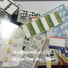 vinyl eggshell destructive sticker label/destructible vinyl sticker/ultra destructible sticker