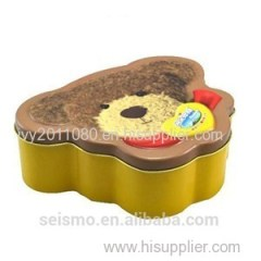 Bear Shape Tin Candy Box