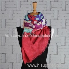 Screen Printing Silk Wool Scarf