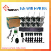 security camera system wireless outdoor 8CH wifi wireless ip camera +nvr kit