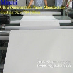 High Quality Tamper Evident Label Materials Self Adhesive Fragile Papers A4 Blank Ultra Destructible Vinyl Paper