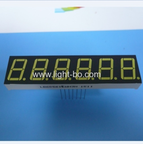OEM ultra white Six digit 0.56  7 segment led display for digital indiator