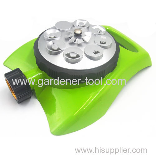 Metal 8 Way Water Sprinkler Head With Decorate Base