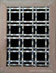 doudle hole woven mesh crimped wire mesh