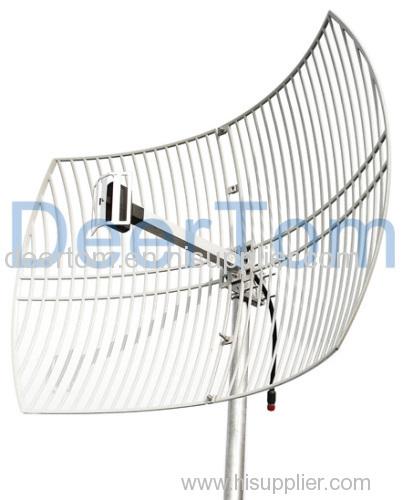 2400 2500MHz 24GHz 24G WIFI Wlan Wireless Grid Parabolic Antenna 24dBi Outdoor Point