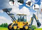 Multi - Purpose 0.3 CBM Rear Bucket Samll Front End Loader With Backhoe