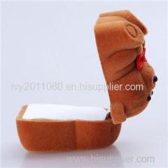 Bear Shaped Velvet Jewelry Box