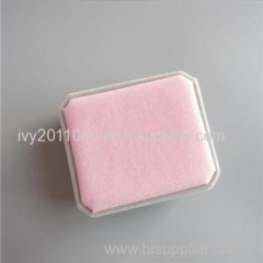 Grey Pink Velvet Ring Box