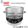 360 Degrees Rotating Food Dehydrator With Digital And Timer Control-Dries 30% Faster-500W