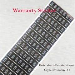 China best self-adhesive destructible label manufacturer custom rectangle 1cmX1.5cm warranty label for repairing use