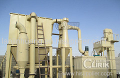 Barite powder grinding processing flow and processing plant