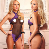 Women Sexy Lingerie Hot Cochet Mesh Hollow Out Baby Doll