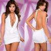 Sexy lingerie women perspective gauze lace halter plus size