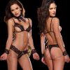 Babydoll Lingerie Set With Metal Handcuff G-string Temptation
