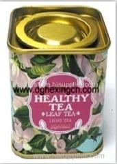 Small tea tin caddy