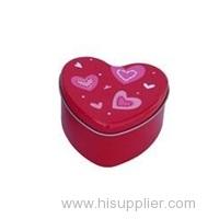 Hearted shape chocolate bar candy tin box