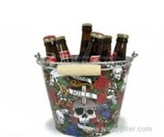 Round tin beer bucket