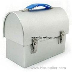 Tin treasure box with lock