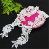 women detachable flower embroidered lace collar