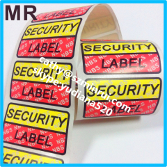 custom tamper evident security void sticker