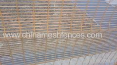 top rolled welded mesh fence;top triangle fence panel