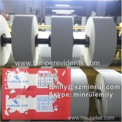 Blank Destructive Label Material Rolls